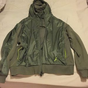 Brand Jordan hoody army green with neon accents